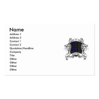 Escudo del tartán del vertedero plantillas de tarjeta de negocio