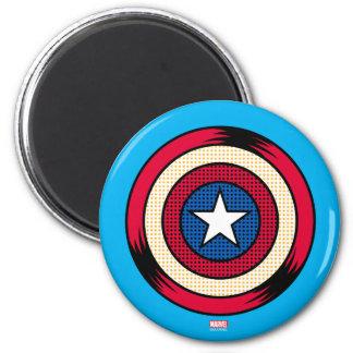 Escudo del tono medio de capitán América Imán Redondo 5 Cm