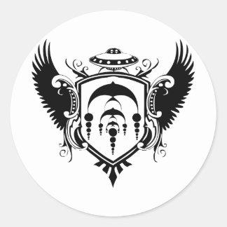 Escudo del UFO Pegatina Redonda