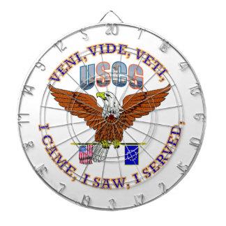 Escudo del veterano VVV del guardacostas de los Tablero De Dardos