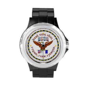 Escudo del veterano VVV del guardacostas de los Reloj