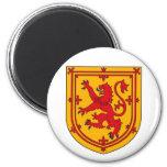 Escudo desenfrenado del león de Escocia Iman De Nevera