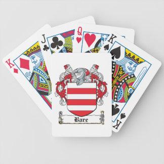 Escudo desnudo de la familia cartas de juego
