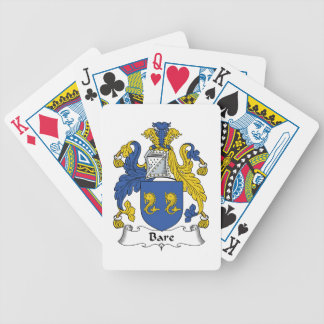 Escudo desnudo de la familia barajas de cartas