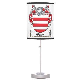 Escudo desnudo de la familia lámpara de escritorio