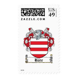 Escudo desnudo de la familia timbre postal