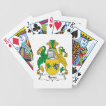 Escudo doméstico de la familia cartas de juego