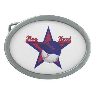 Escudo duro de la correa del Softball-Gorra del ju Hebillas De Cinturon Ovales