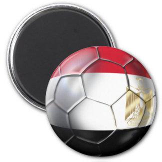 Escudo egipcio del oro del balón de fútbol de edic imanes para frigoríficos