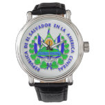 escudo el salvador reloj