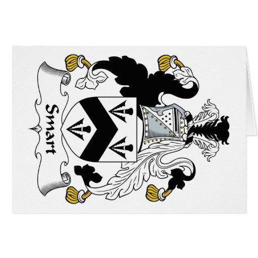 Escudo elegante de la familia tarjetón