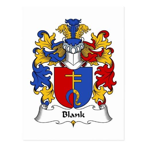 Escudo en blanco de la familia tarjetas postales