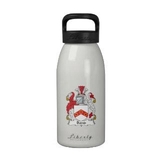 Escudo en enlace de la familia botellas de beber