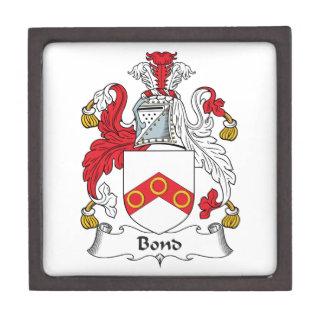Escudo en enlace de la familia cajas de regalo de calidad