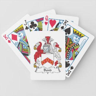 Escudo en enlace de la familia baraja cartas de poker