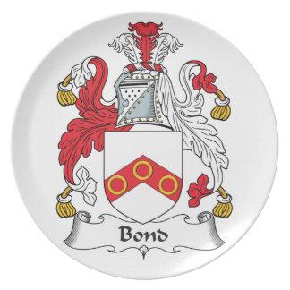Escudo en enlace de la familia platos de comidas