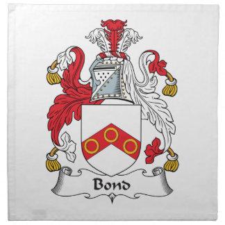 Escudo en enlace de la familia servilletas