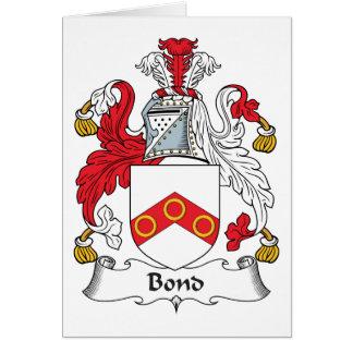 Escudo en enlace de la familia tarjetón
