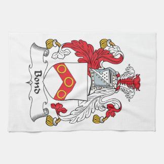 Escudo en enlace de la familia toallas de mano