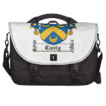 Escudo enérgico de la familia bolsas para portatil