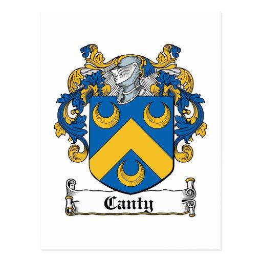 Escudo enérgico de la familia tarjetas postales