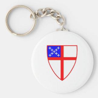 Escudo episcopal llavero redondo tipo pin