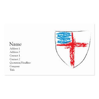 Escudo episcopal tarjetas de visita