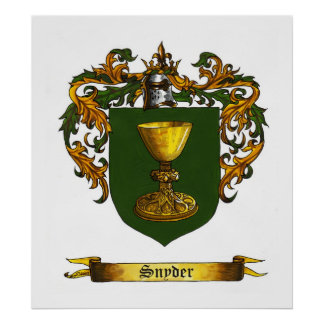 Escudo/escudo de armas de Snyder Poster