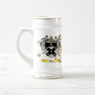 Escudo/escudo de armas del panadero jarra de cerveza