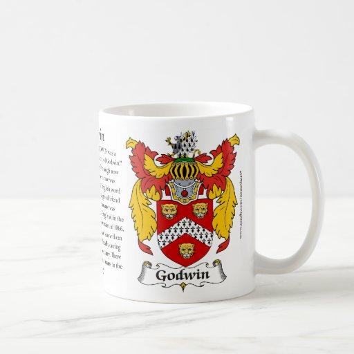"""Escudo"""" """"escudo de armas"""" """"dios de """"Godwin"""" """"Godwi Tazas De Café"""