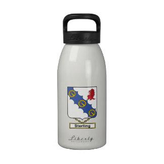 Escudo esterlina de la familia botellas de beber