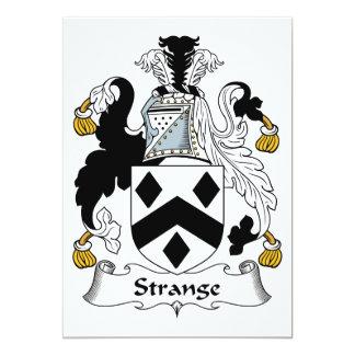 """Escudo extraño de la familia invitación 5"""" x 7"""""""