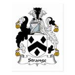 Escudo extraño de la familia postales