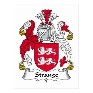 Escudo extraño de la familia tarjeta postal