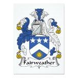 Escudo Fairweather de la familia Invitación 12,7 X 17,8 Cm