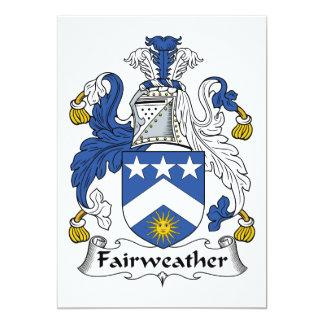 """Escudo Fairweather de la familia Invitación 5"""" X 7"""""""