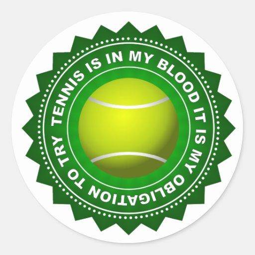 Escudo fantástico 1 del tenis pegatina redonda