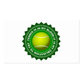 Escudo fantástico 1 del tenis tarjetas de visita