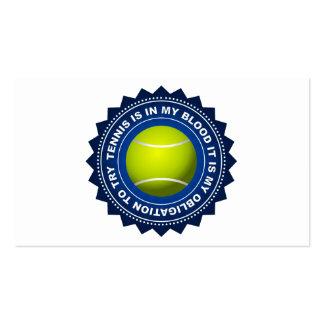 Escudo fantástico 2 del tenis tarjetas de visita