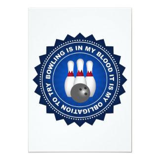 """Escudo fantástico de los bolos invitación 5"""" x 7"""""""