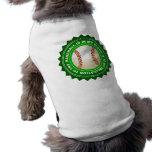 Escudo fantástico del béisbol camiseta de perro
