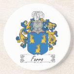 Escudo ferro de la familia posavasos personalizados