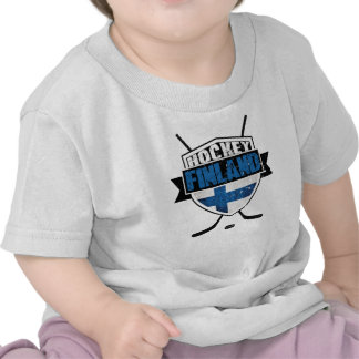 Escudo finlandés Suomi del hockey Camisetas