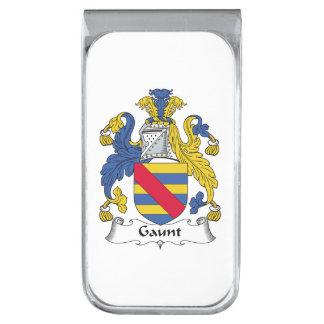 Escudo flaco de la familia clip para billetes plateado