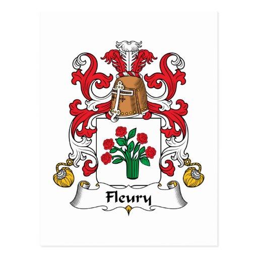 Escudo Fleury de la familia Postales