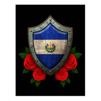 Escudo gastado de la bandera de El Salvador con lo Postales
