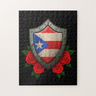 Escudo gastado de la bandera de Puerto Rico con lo Rompecabezas