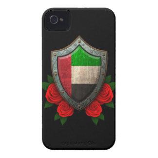 Escudo gastado de la bandera de United Arab Emirat iPhone 4 Case-Mate Coberturas