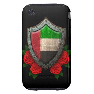 Escudo gastado de la bandera de United Arab Emirat Tough iPhone 3 Funda