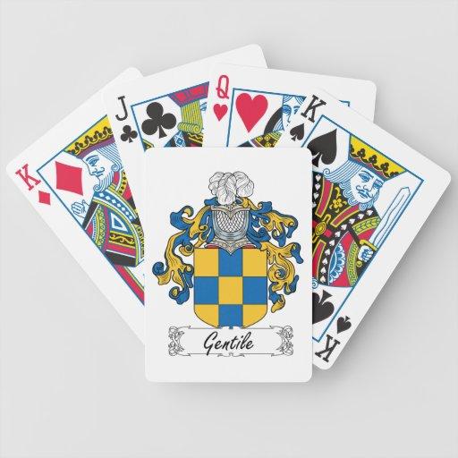 Escudo gentil de la familia barajas de cartas